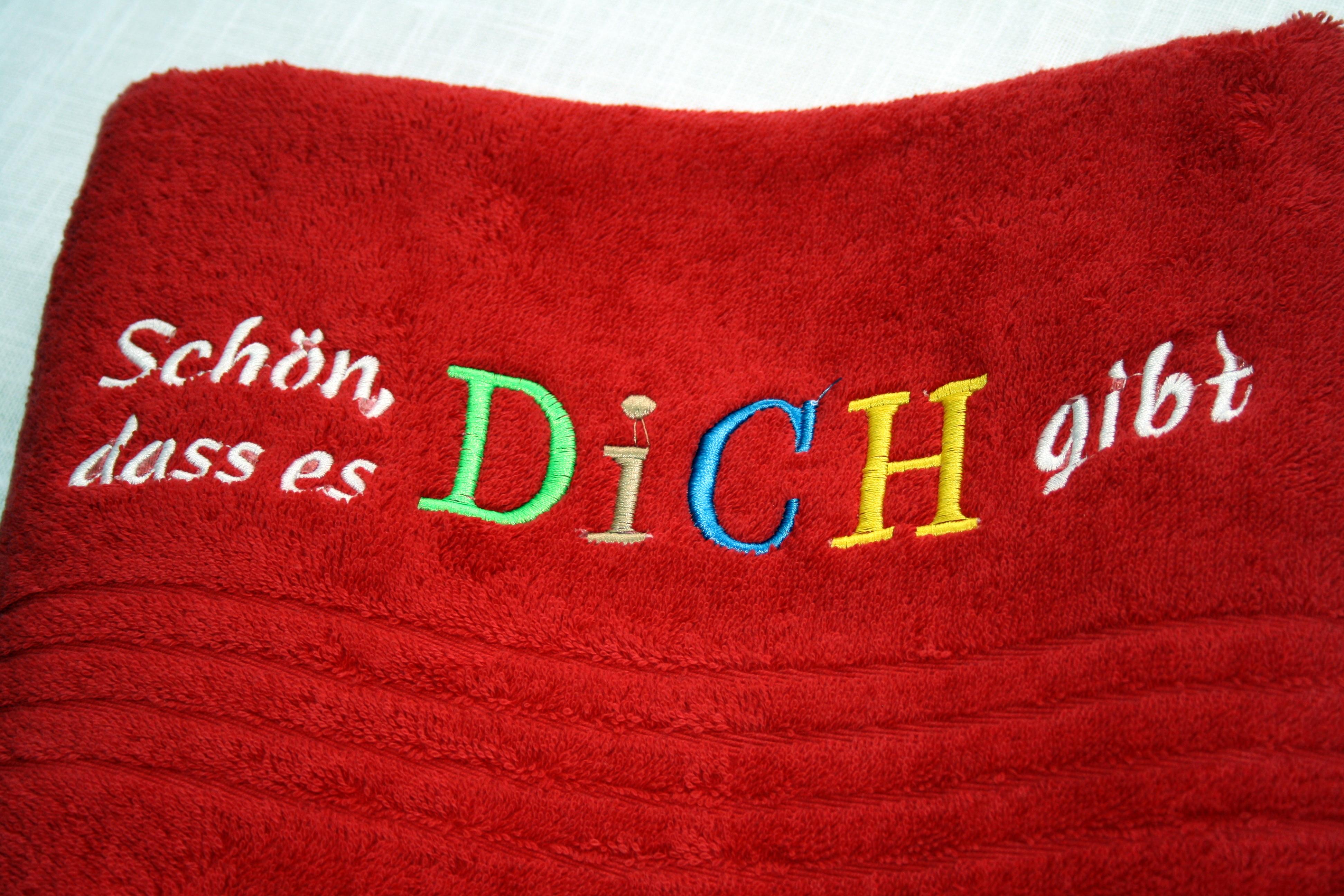 sprüche schön dass es dich gibt Handtuch mit Spruch: